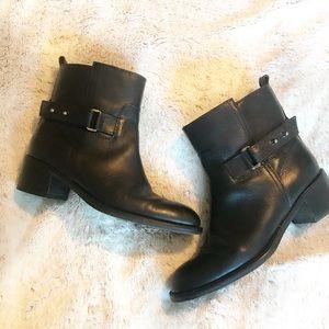 J Crew- Parker Black Leather Boots